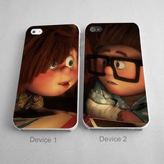 Funny Kids Carl And Ellie Up Disney Couples Phone Case iPhone 4/4S, 5/5S, 5C Series, iPhone 6, 6plus - Hard Plastic, Rubber Case