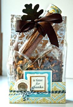 SRM Stickers - @Valerie Mangan created this beautiful Thanksgiving Treat Bag using SRM Stickers and a SRM Mini TUBE.