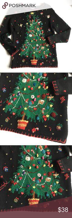 ⭐️ Design Originals Christmas holiday tree Sweater New listing! Info coming soon! Design Originals Studio Sweaters Crew & Scoop Necks