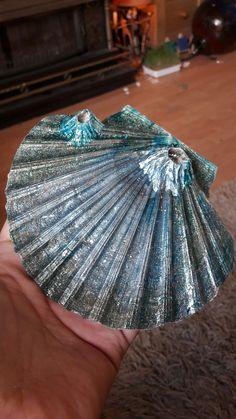 Mermaid shell :) diy nail polish