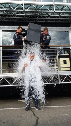 Daniel Ricciardo :Just completed the #ALSIceBucketChallenge