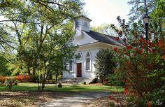 Mount Lebanon Chapel in Airlie Gardens, Wilmington, NC