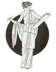 """Calliope, the Greek Muse of Epic Poetry.  In Ancient Greek, Καλλιόπη means """"beautiful-voiced""""."""