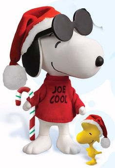 Peanuts A Charlie Brown Christmas Jolly Joe Cool Snoopy Deluxe Action Figure