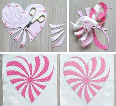 Free Heart Pattern for Quilts, Coasters, Placemats /Geta's Quilting Studio