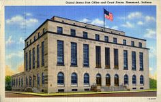 United States Post Office and Court House, 1941 - Hammond, Indiana