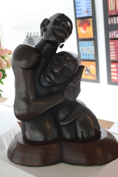 Kenyan artist Gakunju Kaigwa's kisii stone Mother and Child