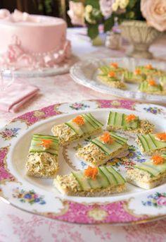 Cucumber tea sandwiches ... pretty!