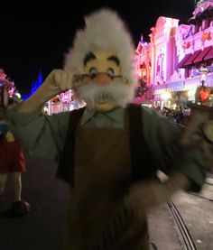 Geppetto, from Pinocchio, in the Boo to You parade at Mickey's Not So Scary Halloween Party in the Magic Kingdom at Disney World.  For more party tips & informaton, see: http://www.buildabettermousetrip.com/mickeys-not-so-scary-halloween-party-tips