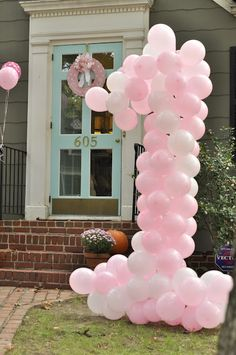 Cute birthday idea using balloons #party #birthday