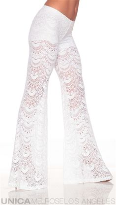 Nightcap White Crochet Pants - not sure I should like them, but somehow they make me think of summer.