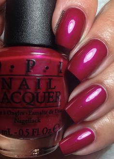 OPI - Thank Glogg It's Friday! Such a pretty fall color.