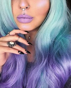 @aboni_cosmetics 'All Dressed Up'  Obsessed with this colour!! ✨ Glow: @anastasiabeverlyhills MoonChild Glow Kit 'Purple Horseshoe' Wig: @powderroomd #abonicosmetics #powderroomd #anastasiabeverlyhills
