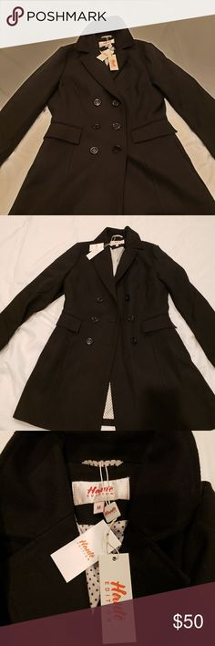 8d6adbb2b90 Women s Pea Coat Haute Edition women s double-breasted wool-blend peacoat