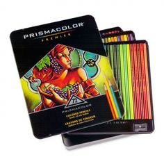Prismacolor Colored Pencils are vivid and intense in one stroke and subtle and soft in the next. Perfect for any project, big or small. A wide array of colors to choose from make it easy to find a soft spot for these premium pencils. Choose from a variety or colored pencil sets. #giftideas