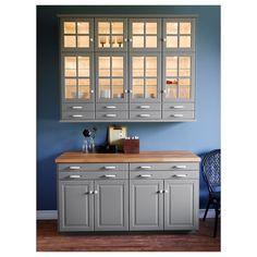 New Kitchen Grey Cabinets Ikea Gray 43 Ideas Wood Kitchen, Kitchen Design, Kitchen Renovation, Kitchen Wall, New Kitchen, New Kitchen Cabinets, Grey Kitchens, Wood Worktop, Trendy Kitchen