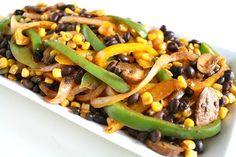 Corn and Black Bean Fajitas