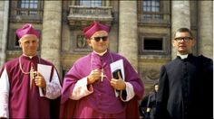 JPII in sunnies and cardinal garb