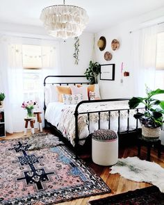 Boho Meets Nordic Style in a Bold New Jersey Home for Six — House Call boho/ boho chic/ boho bedroom/ boho decor/ bohemian/ bohemian decor/ bohemian home decor/ bohemian bedroom Dream Bedroom, Home Bedroom, Nordic Bedroom, Bedroom Decor Boho, Design Bedroom, Girls Bedroom, Pretty Bedroom, Room Decorations, Dream Rooms