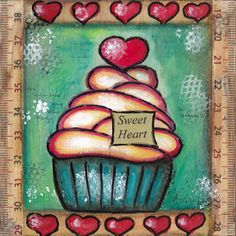 Sweet+Heart+Cupcake+Print+Mixed+Media+Art+by+PetitesDollsbyMoki,