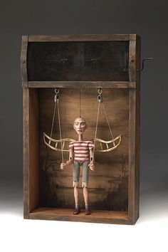 Tom Haney ( Folk Art / Assemblage / Handmade Doll / Box / WIngs )