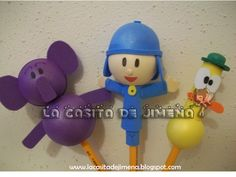 fofulapiz pocoyo Diy And Crafts, Polymer Clay, Barbie, Party, Favors, Embellishments, Diy, Creativity, Craft