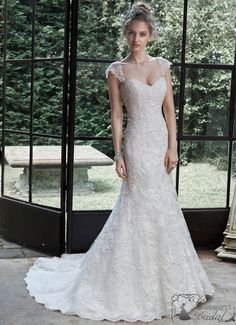 WINSTYN by Maggie Sottero Wedding Dresses Lace and tulle fit and flare wedding dress with sweetheart neckline and Swarovski crystal belt. Winstyn by Maggie Sottero. Lace Wedding Dress, Maggie Sottero Wedding Dresses, Fit And Flare Wedding Dress, Wedding Dress Sizes, Perfect Wedding Dress, Dream Wedding Dresses, Designer Wedding Dresses, Bridal Dresses, Wedding Gowns