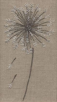 Jo Butcher, Embroidery Artist - Gallery - Category: Seedheads S.M companies are now cropping upwards Free Motion Embroidery, Hand Embroidery Stitches, Embroidery Hoop Art, Crewel Embroidery, Hand Embroidery Designs, Embroidery Techniques, Ribbon Embroidery, Machine Embroidery, Techniques Couture
