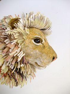 Paper Mache Animal Heads | My Owl Barn: Emily Warren: Papier Mache Animals