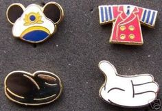 DCL Captain Mickey Body Parts 4 Pin Set - Retired (09/28/2007)