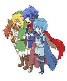Super Smash Bros Melee epic characters - #Zelda #FireEmblem #KidIcarus