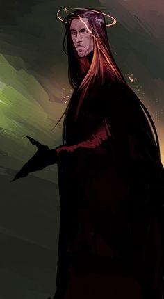 Melkor concept by SalmVil Watch Fan Art / Digital Art / Drawings / Books & SalmVil Fantasy Character Design, Character Concept, Character Inspiration, Character Art, Concept Art, Tolkien, Dark Fantasy, Fantasy Art, Vampire Stories