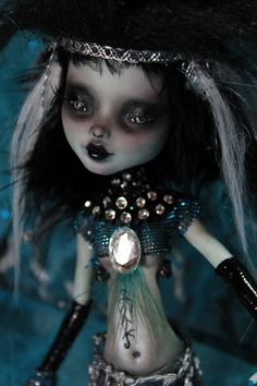 MAD MAXINE Goth Siren OOAK Gothic Mermaid by Refabrications