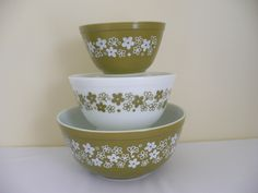 Vintage Pyrex Spring Blossom Mixing Bowls . . . . My Collection!