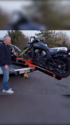 Motorcycle Ramp, Motorcycle Design, Motorcycle Style, Bike Design, Motorcycle Accessories, Custom Street Bikes, Custom Bikes, Vw Lt 4x4, Bike Lift