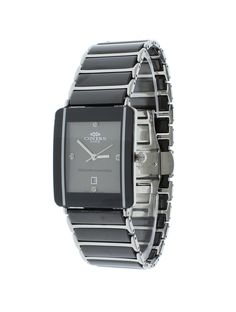 Oniss ON294-MGY/SBK Men's Watch Grey Dial Stainless Steel/Ceramic Case & Band Swiss Movement