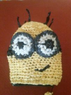Monedero MINIONS crochet con BOLSAS DE PLASTICO