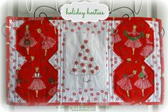 Day 5 - Holiday Hostess Table Topper tutorial! The final reveal of the completed project! This was a free design and tutorial so come along and play!