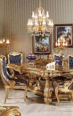 The Hidden Secret of Fairhaven Dining Room Table Design Ideas - homemili Luxury Dining Tables, Luxury Dining Room, Dining Room Design, Dining Room Sets, Farmhouse Living Room Furniture, Home Decor Furniture, Luxury Furniture, Classic Dining Room, Elegant Dining Room