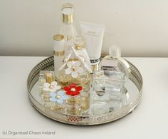 organised_perfume_in_bedroom-by Organised Chaos, Ireland's #1 organisation expert providing professional Home and Office organising and decluttering services in Dublin, Ireland and Virtual Organising services worldwide