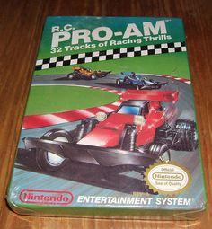 #videogame original 1988 R.C. PRO-AM Nintendo NES in box UNOPENED!