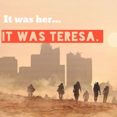 It was her... It was Teresa.. ~ Maze Runner. I LOVE THIS BOOK SO MUCH!!! I read it last year, and it was AMAZING.