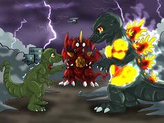 Godzilla vs Destroyah by Natsuakai