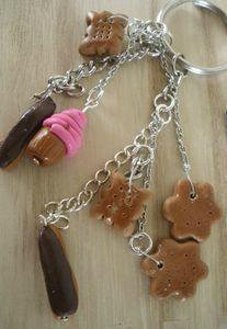 DIY : Un bijoux de sac/porte clé gourmand en pate Fimo... Et pourquoi ne pas y ajouter d' autres breloques ?