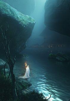 """""""The White Wizard by Satyaki Sarkar"""" Hand Painting Art, Oil Painting On Canvas, Canvas Art, Oil Paintings, High Fantasy, Sci Fi Fantasy, Hobbit Art, Bizarre Art, We Fall In Love"""