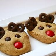 """Reindeer cookies... fun, easy to make, and perfect for Christmas parties!"""" data-componentType=""""MODAL_PIN"""