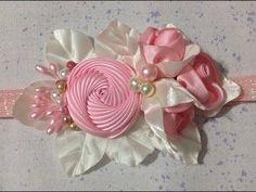 Tiara con flor torbellino VIDEO No. 500 creacionesrosaisela - YouTube