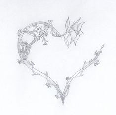 broken heart tattoos images