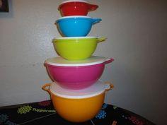 Tupperware Lot 5 Thatsa Mixing Bowl Set Rare 2,6,12,32,42 Cup >> Amazing product just a click away at : Baking mixing bowls