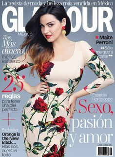 Maite Perroni for Glamour Mexico August 2015 cover - Dolce&Gabbana